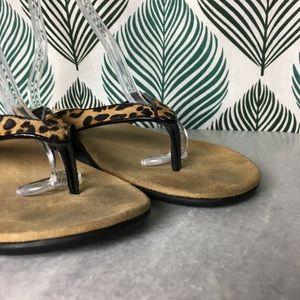 6adfedaf0caa Vionic Shoes | Selena Sandal Leopard Print Calf Hair | Poshmark